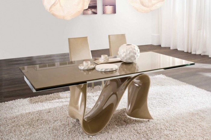 Magnificent-Modern-Dining-Room-Sets-Wooden-Floor-White-Interior-Design 45 Most Stylish and Contemporary Dining rooms