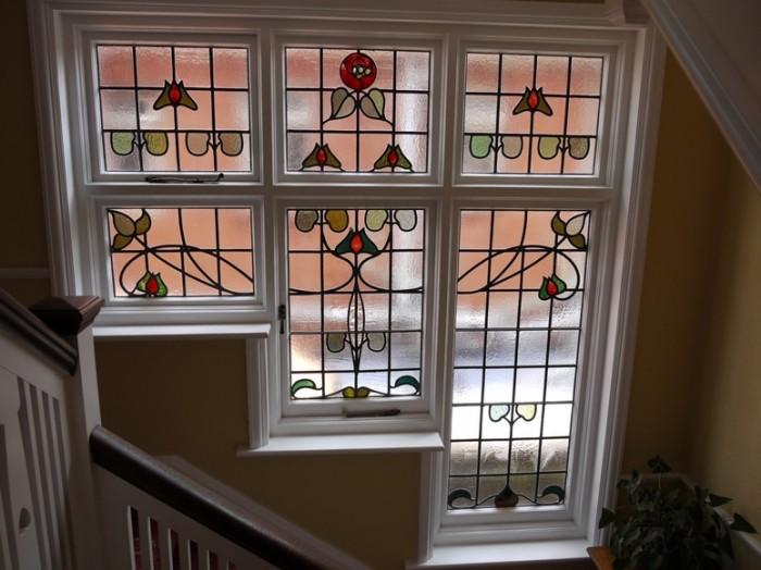 Marvelous-Stair-Window-Design-White-Window-Floral-Decor-Arts-Ideas Window Design Ideas For Your House