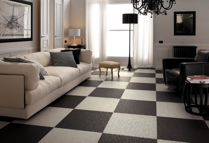 Modern-Black-White-Floor-Decorations 43 Modern And Creative Ideas Of Flooring Designs
