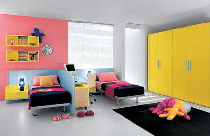 Modern-Colorful-Themes-Wall-Decoration-in-Teenage-Girls-Bedroom-Decorating-Designs-Ideas2 Modern Ideas Of Room Designs For Teenage Girls