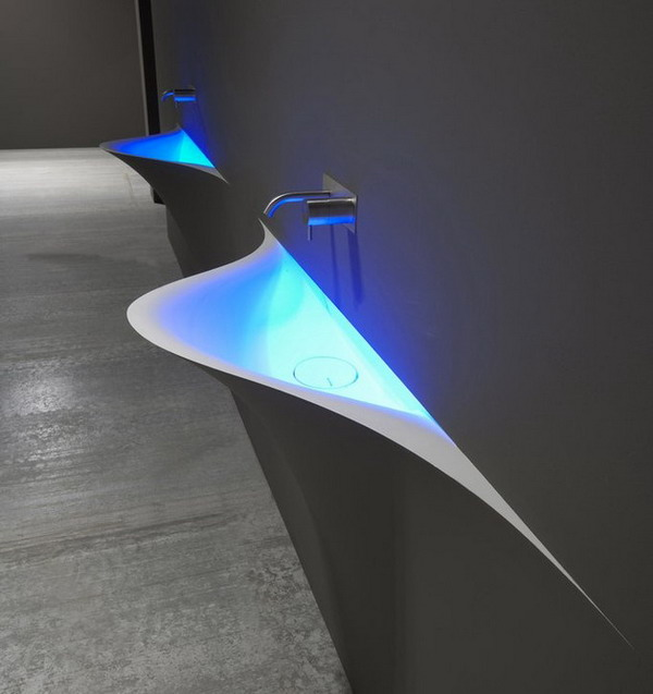 Modern-Wall-Integrated-Bathroom-Sink-Design-Ideas-by-Antonio-Lupi-Silence-1 40 Catchy and Dazzling Bathroom Sinks
