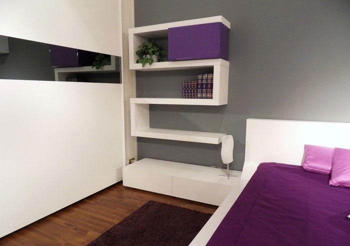 Modern-bedroom-design-with-original-wall-shelves-4 26 Of The Most Creative Bookshelves Designs