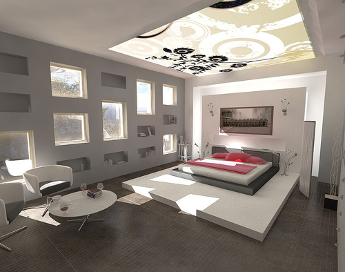 Modern-ceiling-design-in-black-and-white-pattern1 Fantastic Ceiling Designs For Your Home