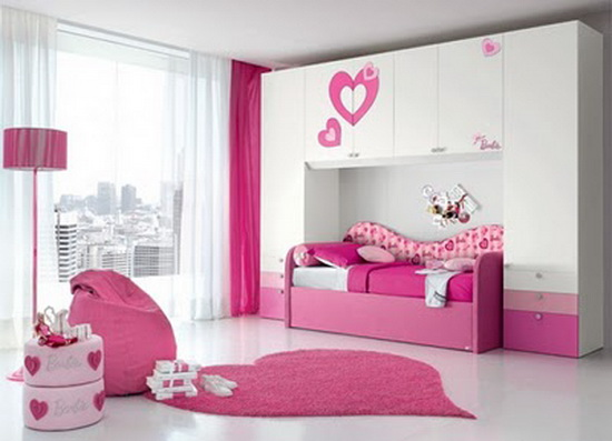 Modern-pink-Bedroom-Design-For-Teenage-Girl1 Modern Ideas Of Room Designs For Teenage Girls