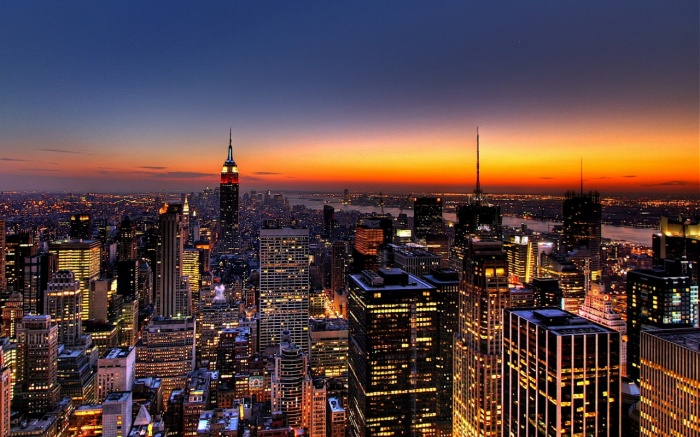 """New-York-City-Skyline """"New York City"""" Is The Most Populous City In The United States"""