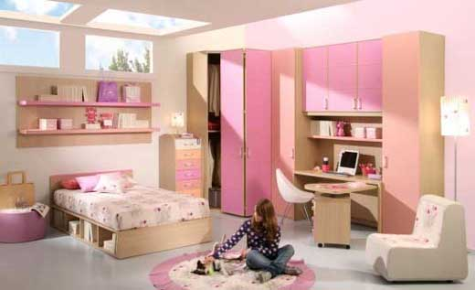 Pink-Interior-Bedroom-Theme-for-Ladies1 Modern Ideas Of Room Designs For Teenage Girls
