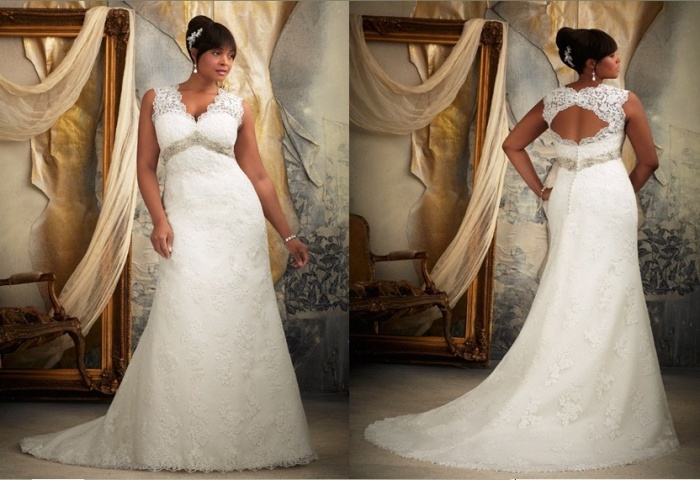 Plus-Size-Lace-Wedding-Dress-MW0012- Tips To Choose The Perfect Plus Size Bridal Dress...