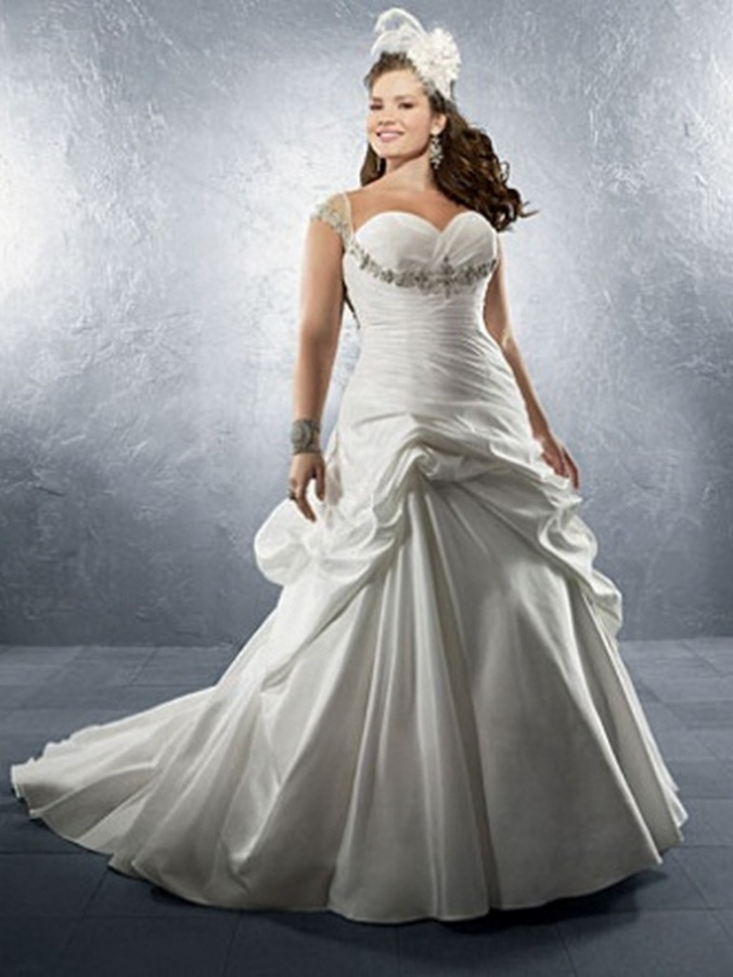 Plus-Size-Wedding-Dress-2012-2013-For-women-4 Tips To Choose The Perfect Plus Size Bridal Dress...