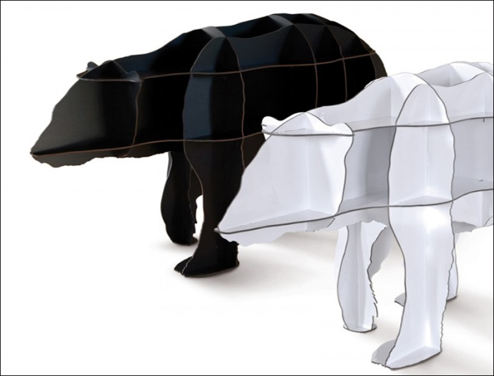 Polar-Bears-by-Ibride 40 Unusual and Creative Bookcases