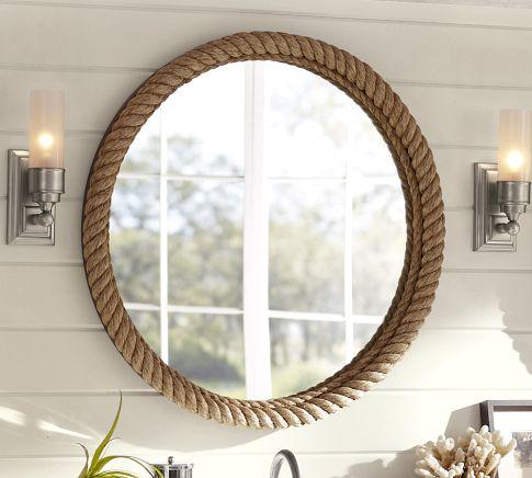 Pottery-Barn-Rope-Circle-Mirror 25 Creative Rope Decor Design Ideas