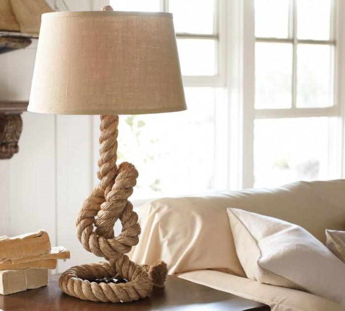 Pottery-Barn-Rope-Table-Lamp 25 Creative Rope Decor Design Ideas