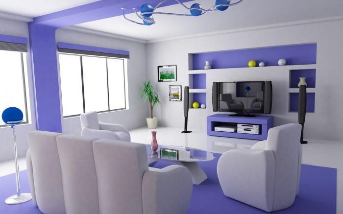 Purple-Interior-Design-Wallpaper 19 Creative Interior Designs For Your Home
