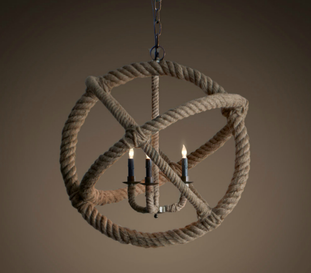 Restoration-Hardware-Rope-Planetarium-Chandelier-II 25 Creative Rope Decor Design Ideas