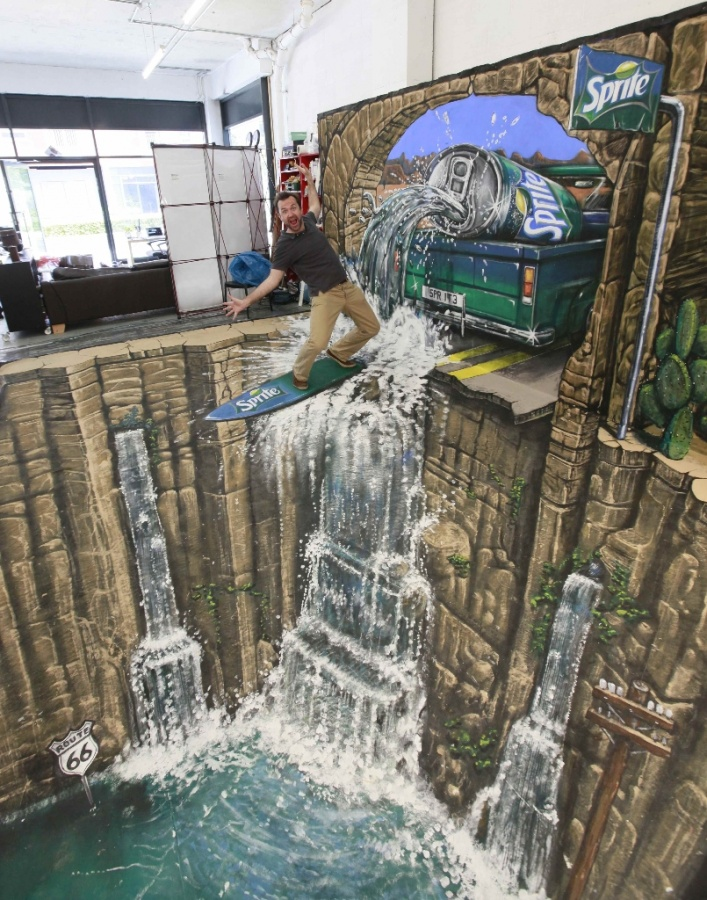 SpriteSidewalk-Art 26 Most Stunning 3D Street Art Paintings