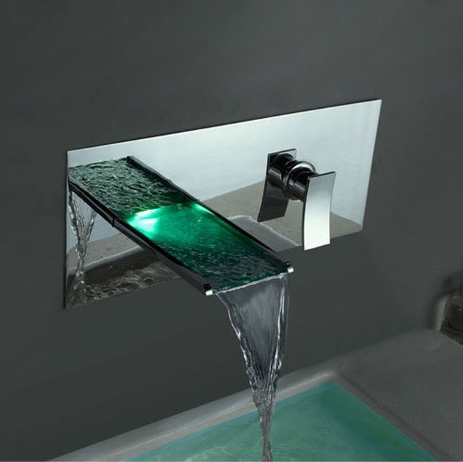 Stunning-Contemporary-Waterfall-Bathroom-Faucets 40 Breathtaking and Unique Bathroom Faucets