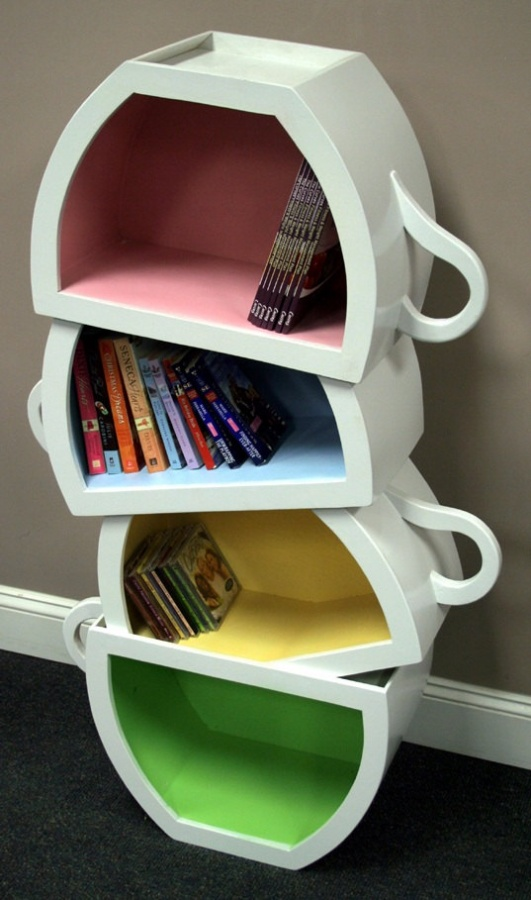Teacups 40 Unusual and Creative Bookcases