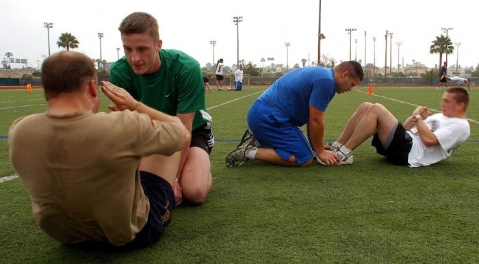 US_Navy-Sailors-total_of_60_sit-ups What Are the Military Workouts?
