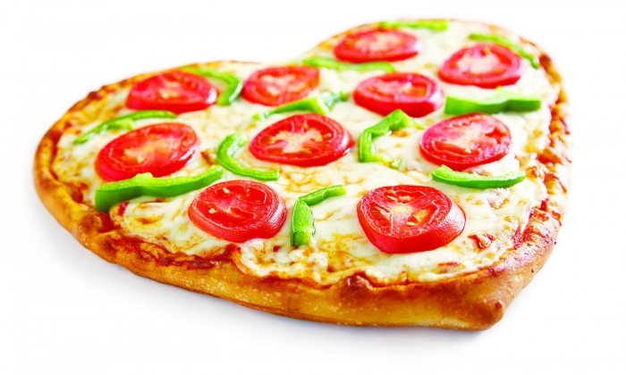 Valentines-Veggie-Delight Pizza !!! Do You Ever Think If It Is A Right Nutrition For You And Your Family?!