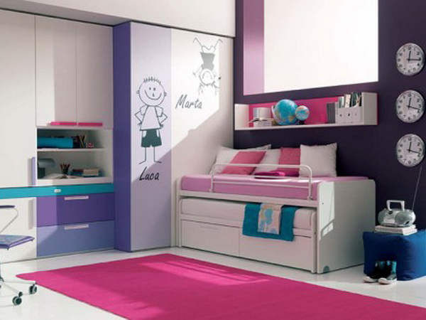 Various-Color-Modern-Design-of-Pink-Bedroom-Design-Ideas-for-Teenage-Girls1 Modern Ideas Of Room Designs For Teenage Girls