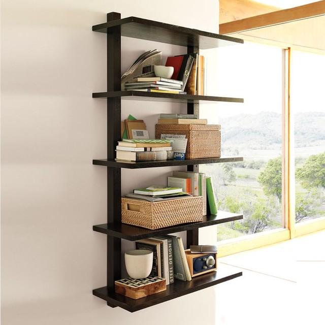 Wall-Bookshelf-Modern-Design 26 Of The Most Creative Bookshelves Designs