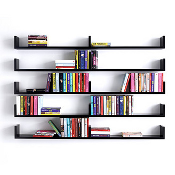 Wall-Mounted-Bookshelves 26 Of The Most Creative Bookshelves Designs
