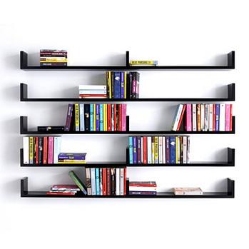 Wall-Mounted-Bookshelves 26 Of The Most Creative Bookshelves Designs