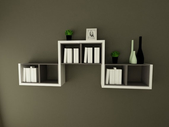 Wall-Shelf-in-Simple-and-Minimalist4 26 Of The Most Creative Bookshelves Designs