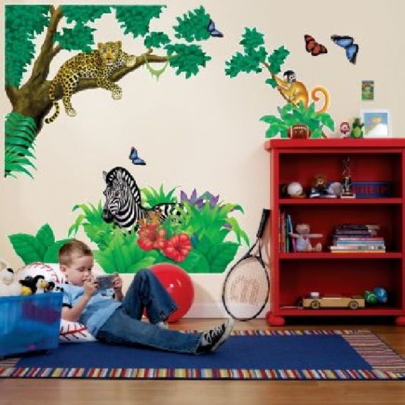 Wallpaper-Animal-Kids-Bedroom-Decorating-Ideas Create A Colorful Atmosphere In Your Kids Room By Wallpaper