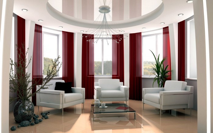 White-Red-Elegant-Interior-Design-Style 19 Creative Interior Designs For Your Home