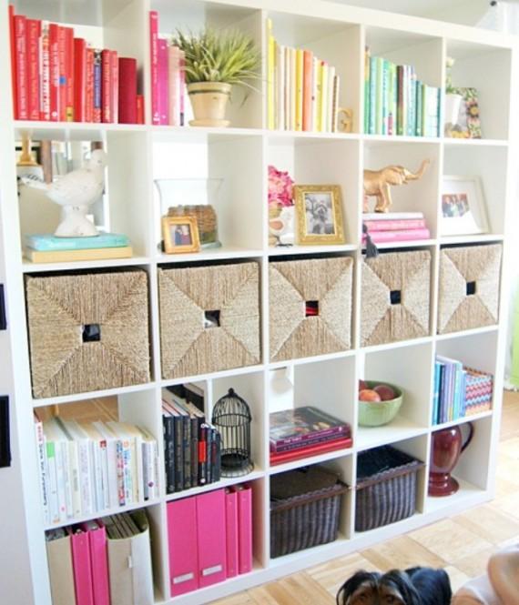 White-Wall-Bookshelf-design-570x665 26 Of The Most Creative Bookshelves Designs