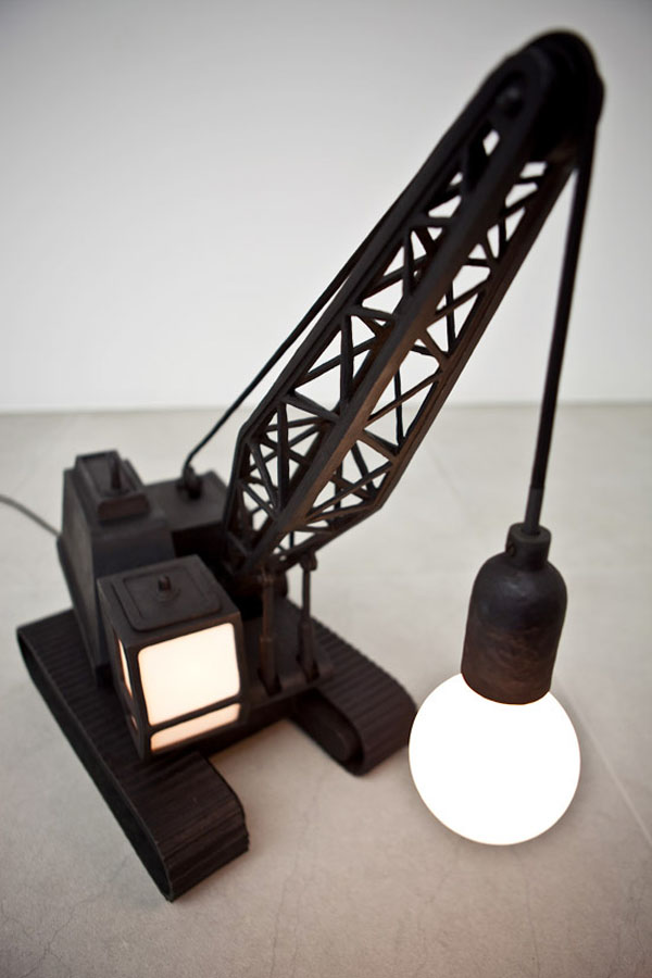 WreckingBallLampCraneLampStudioJob3 30 Most Creative and Unusual lamp Designs