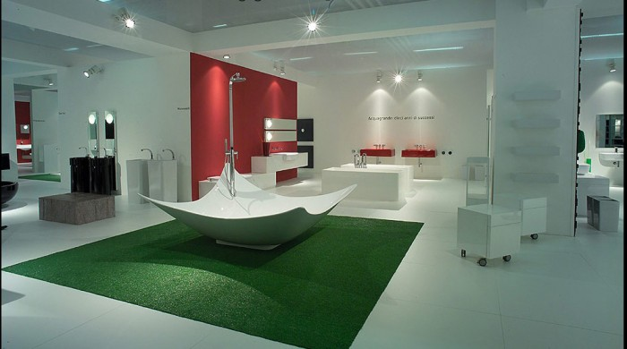 amazing-contemporary-large-bathroom-design-with-unique-bathtub 25 Creative and Unique Bathtubs for an Elegant Bathroom