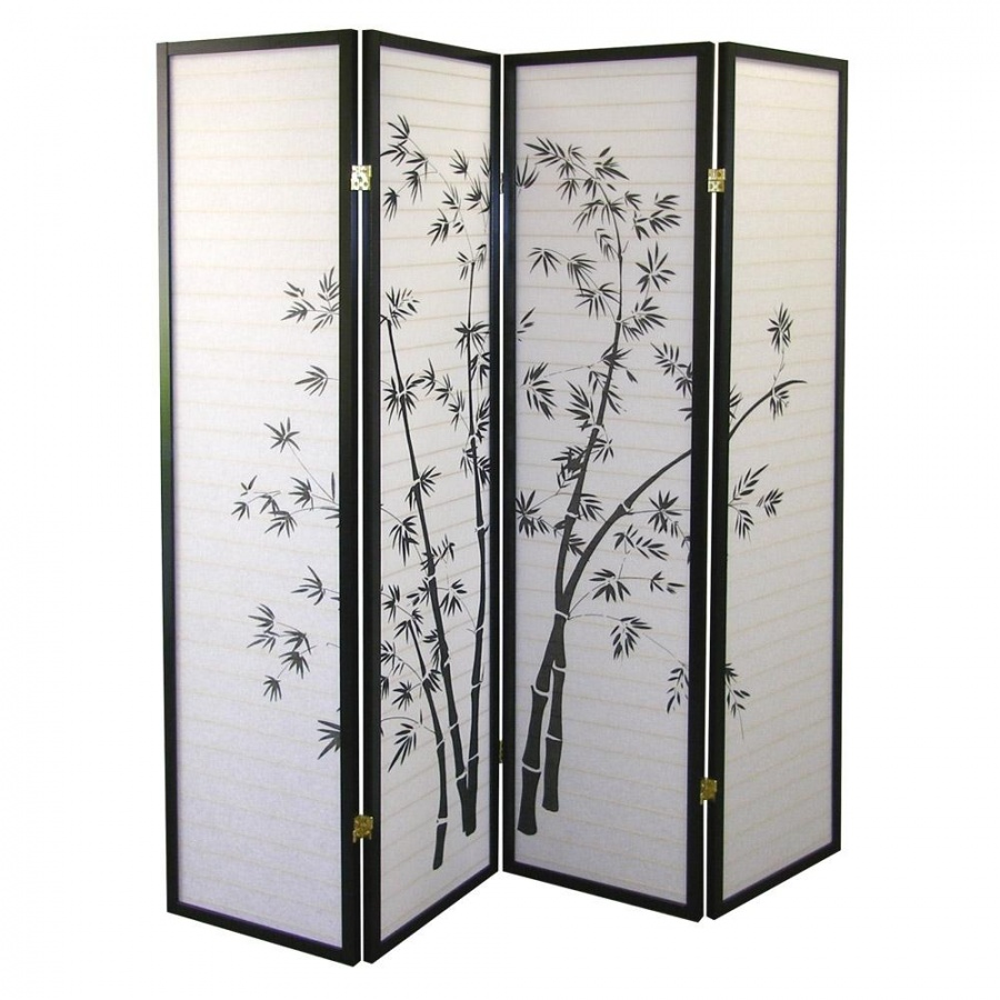 bamboo_4_panel_room_divider 40 Most Amazing Room Dividers