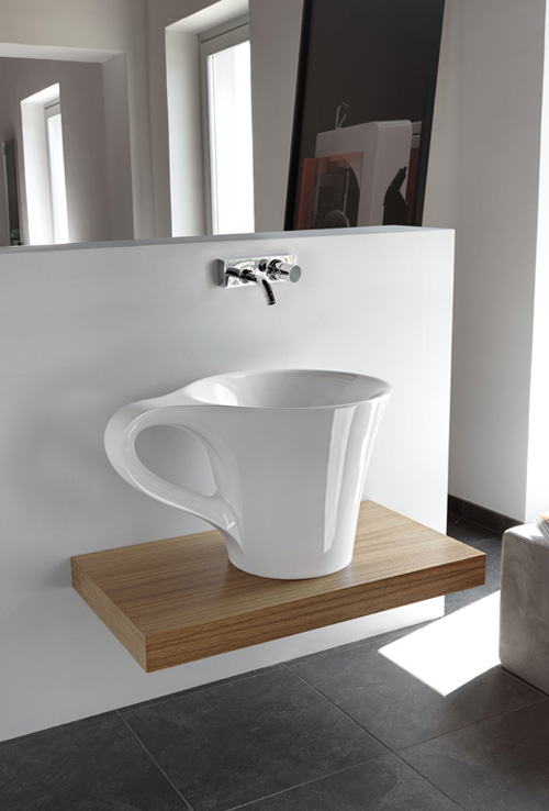 basin-cup-artceram-1 40 Catchy and Dazzling Bathroom Sinks