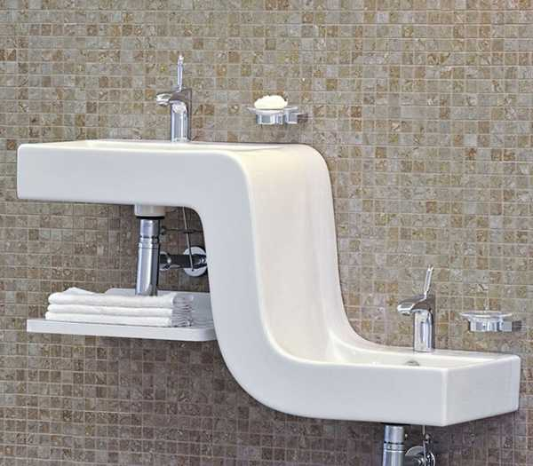 bathroom-sinks-two-level-family-basin-vitra-1 40 Catchy and Dazzling Bathroom Sinks