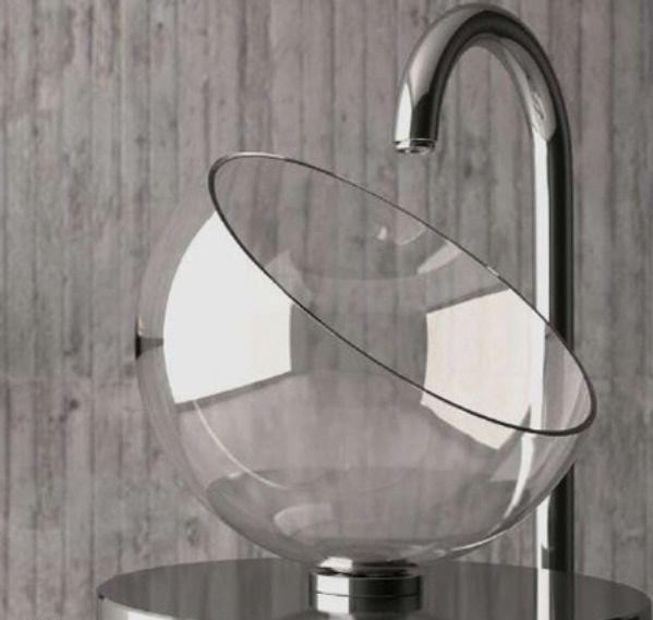 beautiful glass bathroom sinks