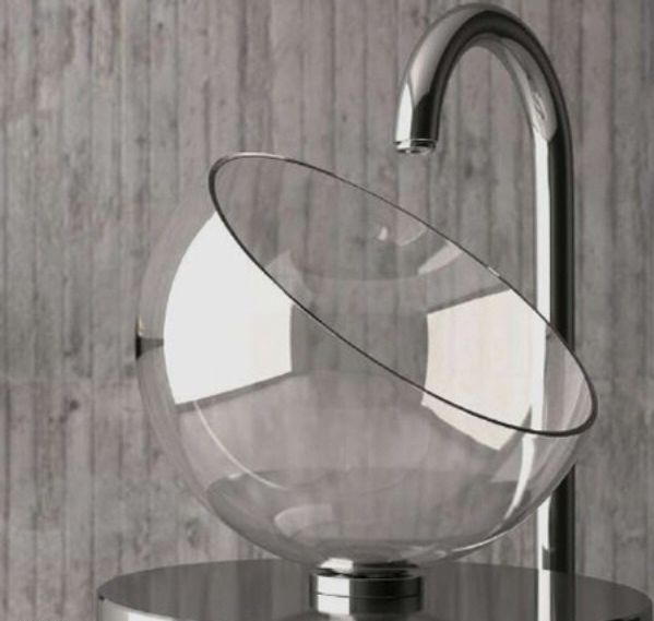 beautiful-glass-bathroom-sinks 40 Catchy and Dazzling Bathroom Sinks