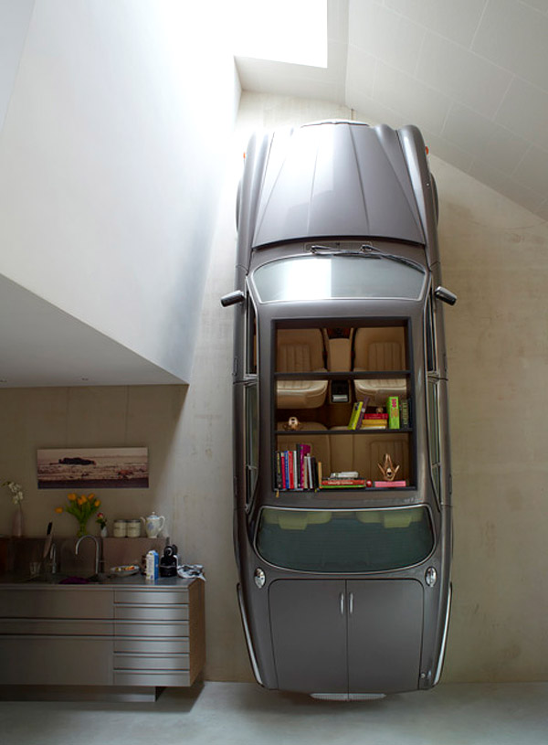 car_bookshelf_1 40 Unusual and Creative Bookcases