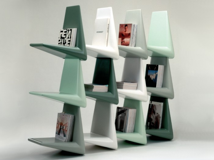 chair-shaped 40 Unusual and Creative Bookcases