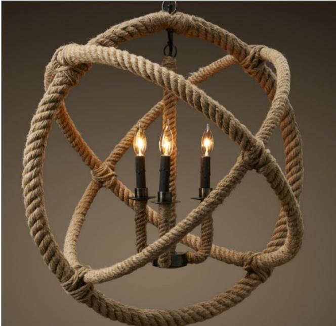 chandelier 25 Creative Rope Decor Design Ideas
