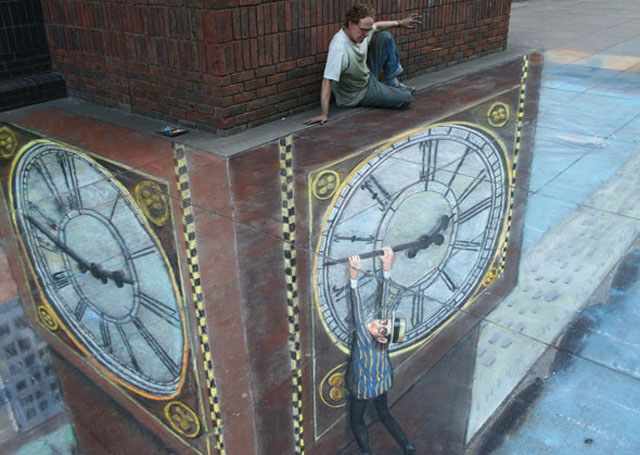 clock 26 Most Stunning 3D Street Art Paintings