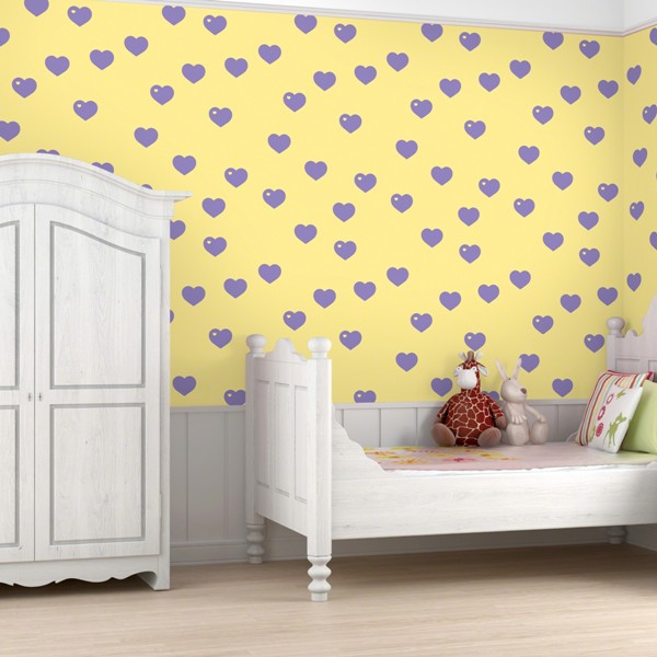 colorful-patterned-wallpapers-for-kids-rooms-15 Create A Colorful Atmosphere In Your Kids Room By Wallpaper