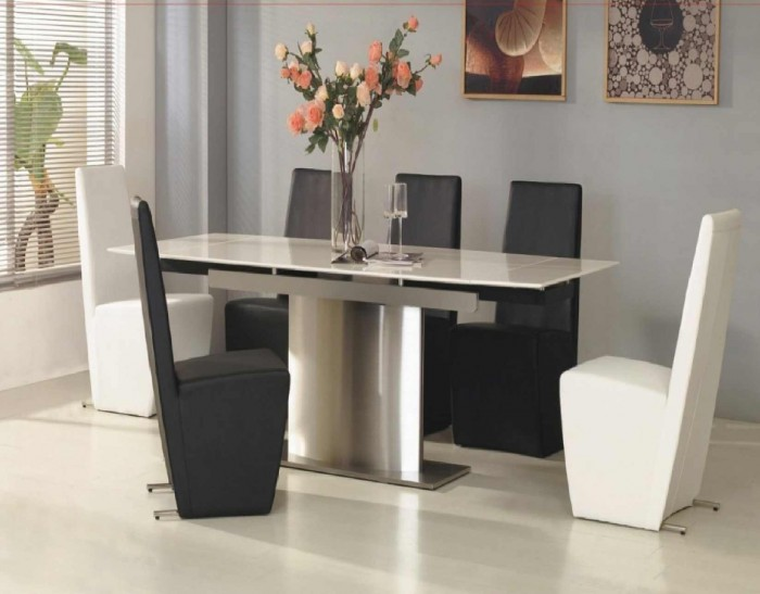 contemporary-dining-room-furniture-tables-art 45 Most Stylish and Contemporary Dining rooms