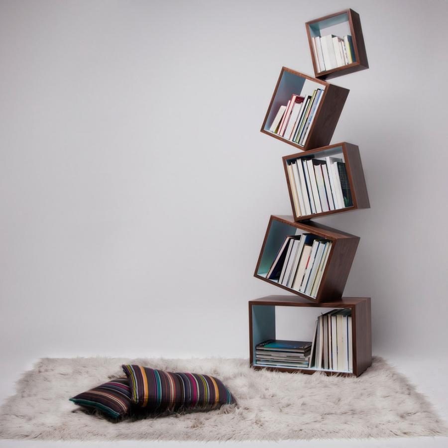cozy-equilibrium-bookcase-thisroom-ru 40 Unusual and Creative Bookcases