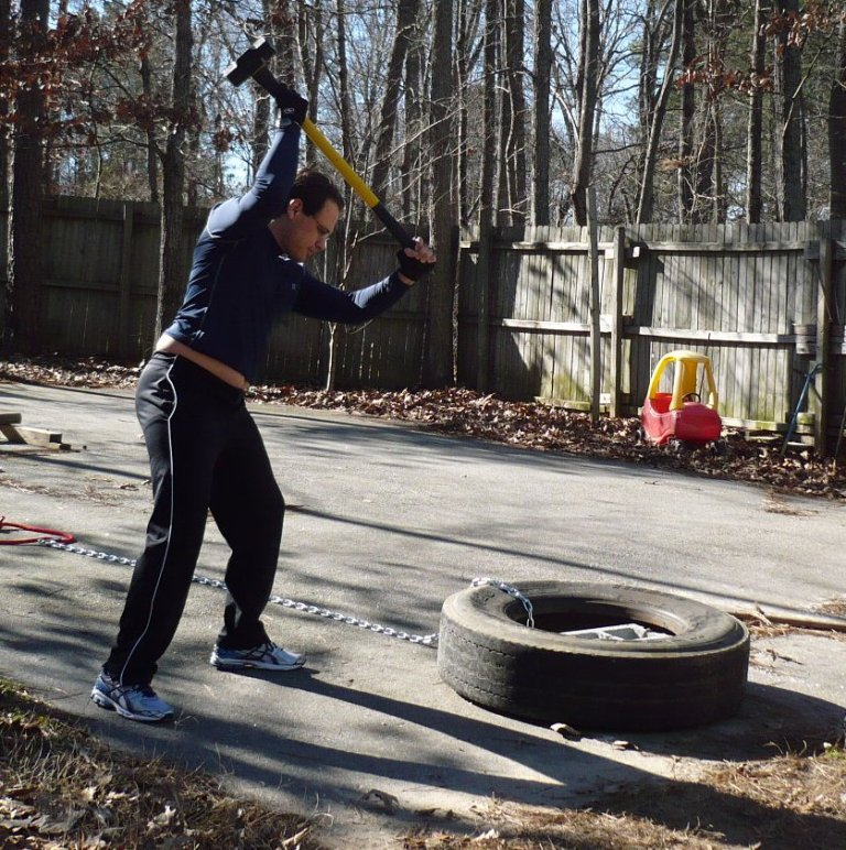 crop-in-motion-tire-sledge 10 MMA Workouts to Achieve Fitness