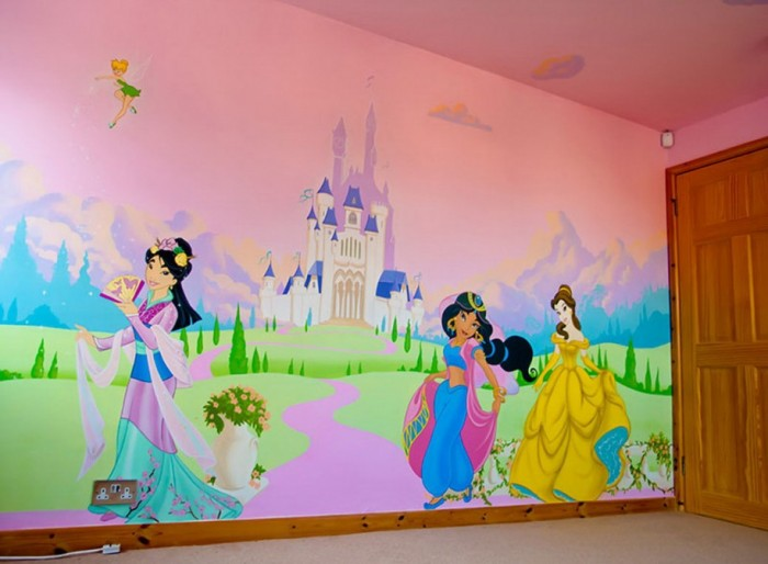 disney-princesses-wallpaper-for-girl-kids-room-915x672 Create A Colorful Atmosphere In Your Kids Room By Wallpaper