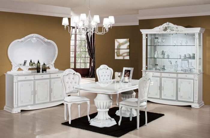 ekizabeth-white-dining-room1 45 Most Stylish and Contemporary Dining rooms