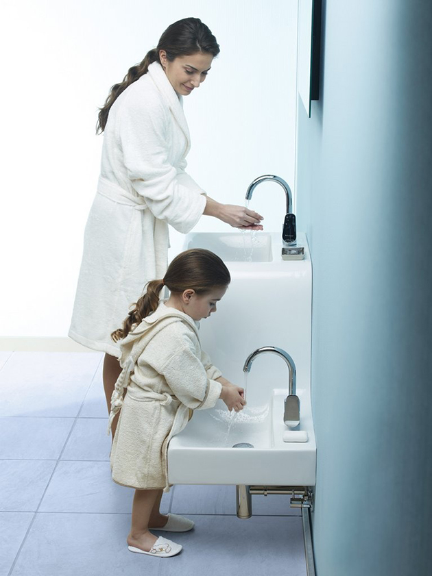 family-basin-by-vitra-1 40 Catchy and Dazzling Bathroom Sinks