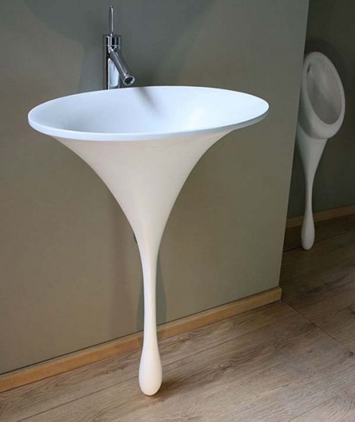 flower-bathroom-sink-design 40 Catchy and Dazzling Bathroom Sinks