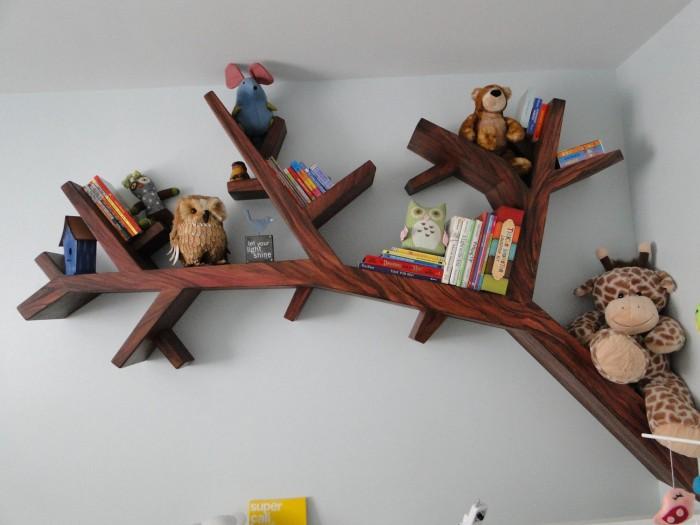 furniture-tree-branch-bookshelf-84-tree-branch-bookshelf-with-beautiful-unique-design 40 Unusual and Creative Bookcases